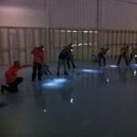 Large Area Floor Clean