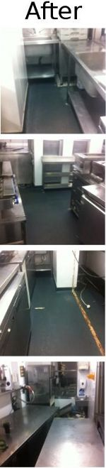 4 pictures showing the premises after builders cleaning